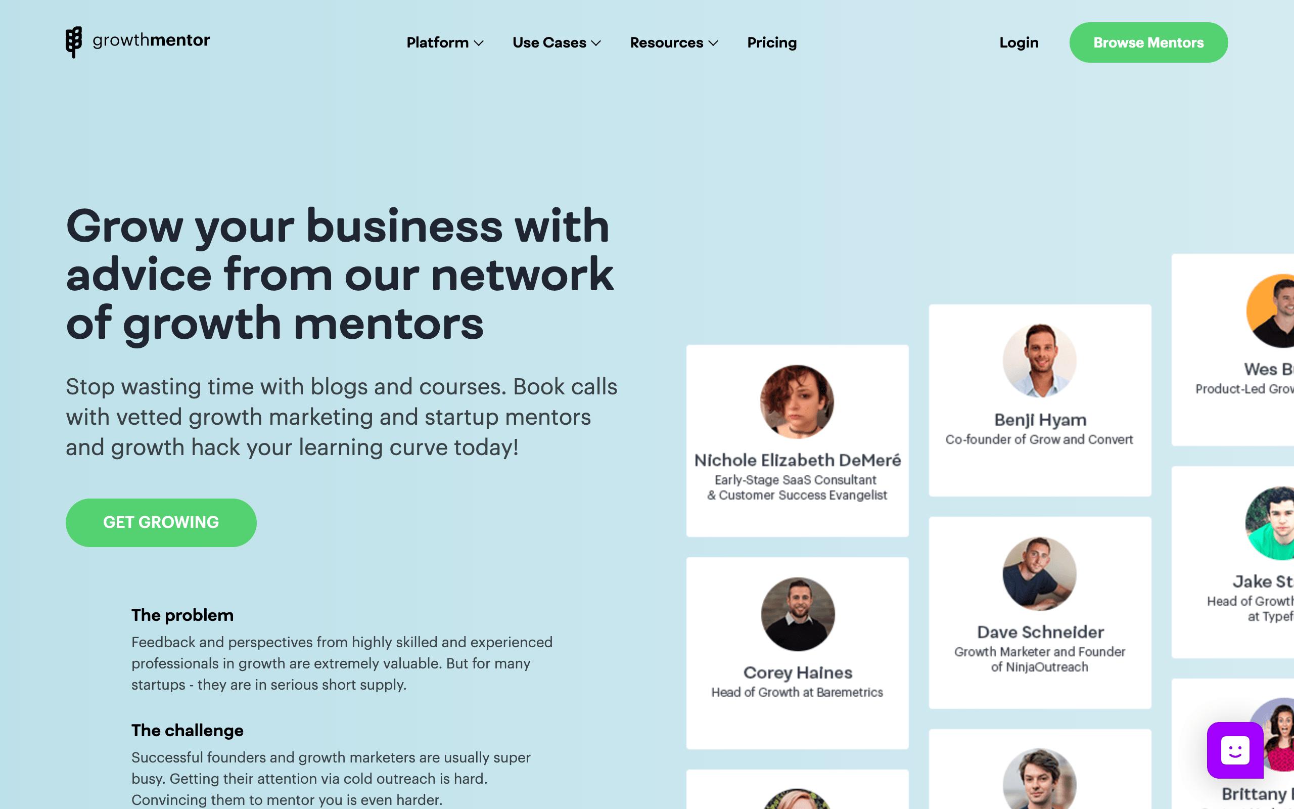 Startup Advisors - GrowthMentor