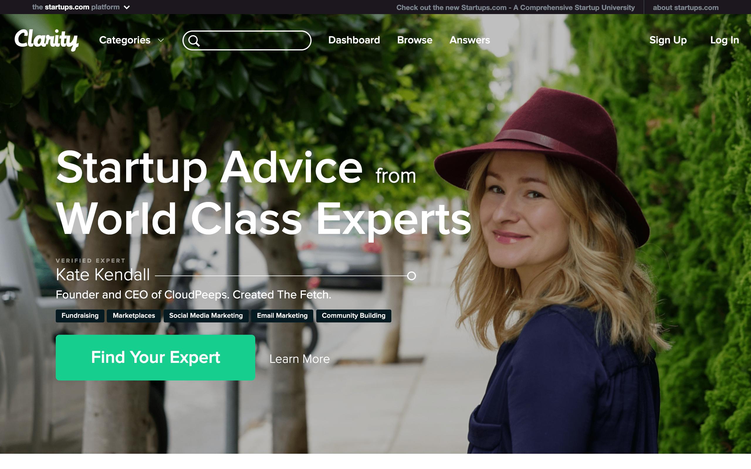 Startup Advisors - Clarity