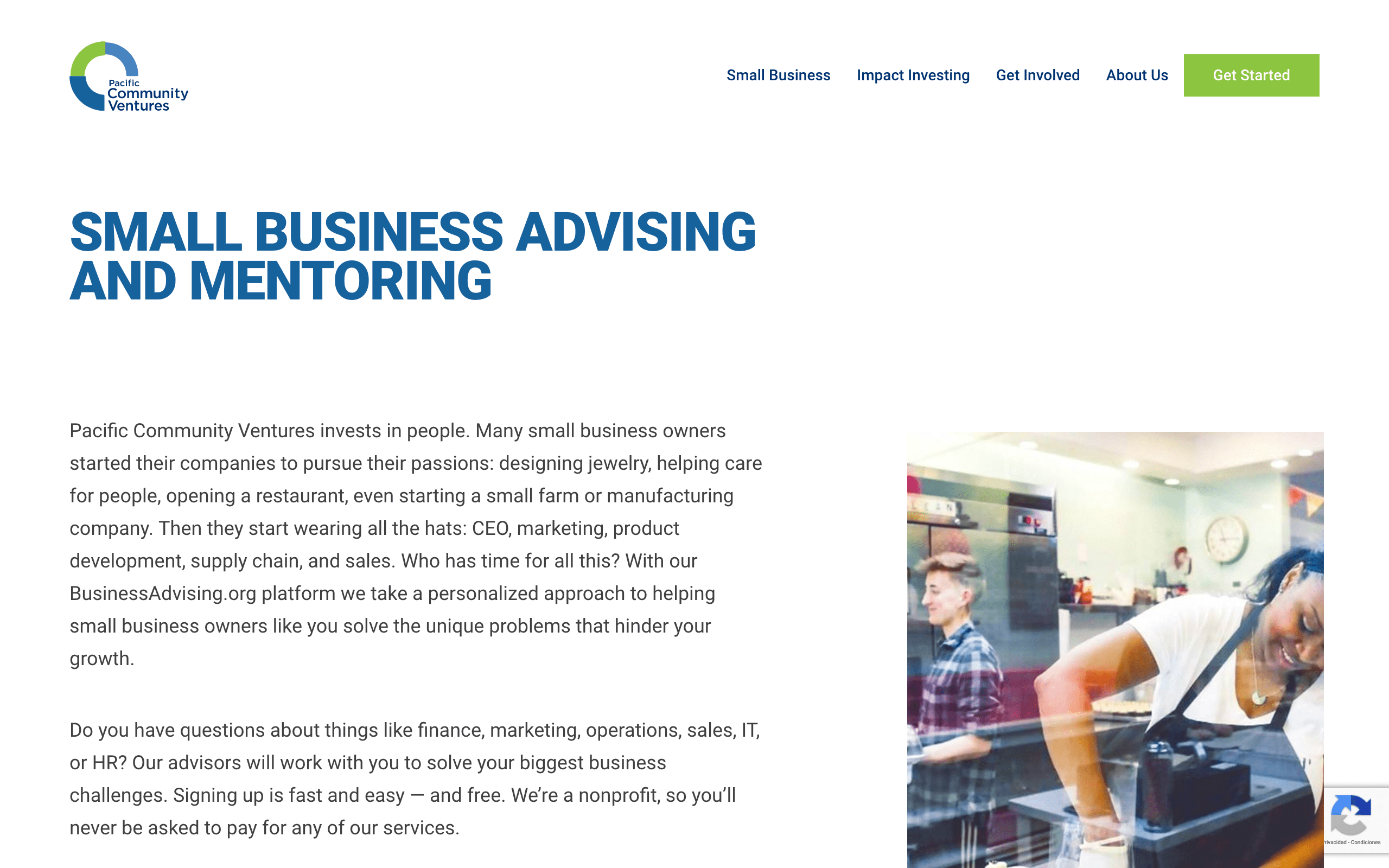 Startup Advisors - Pacific Community Services