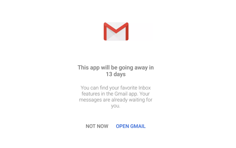Google Inbox Discontinued
