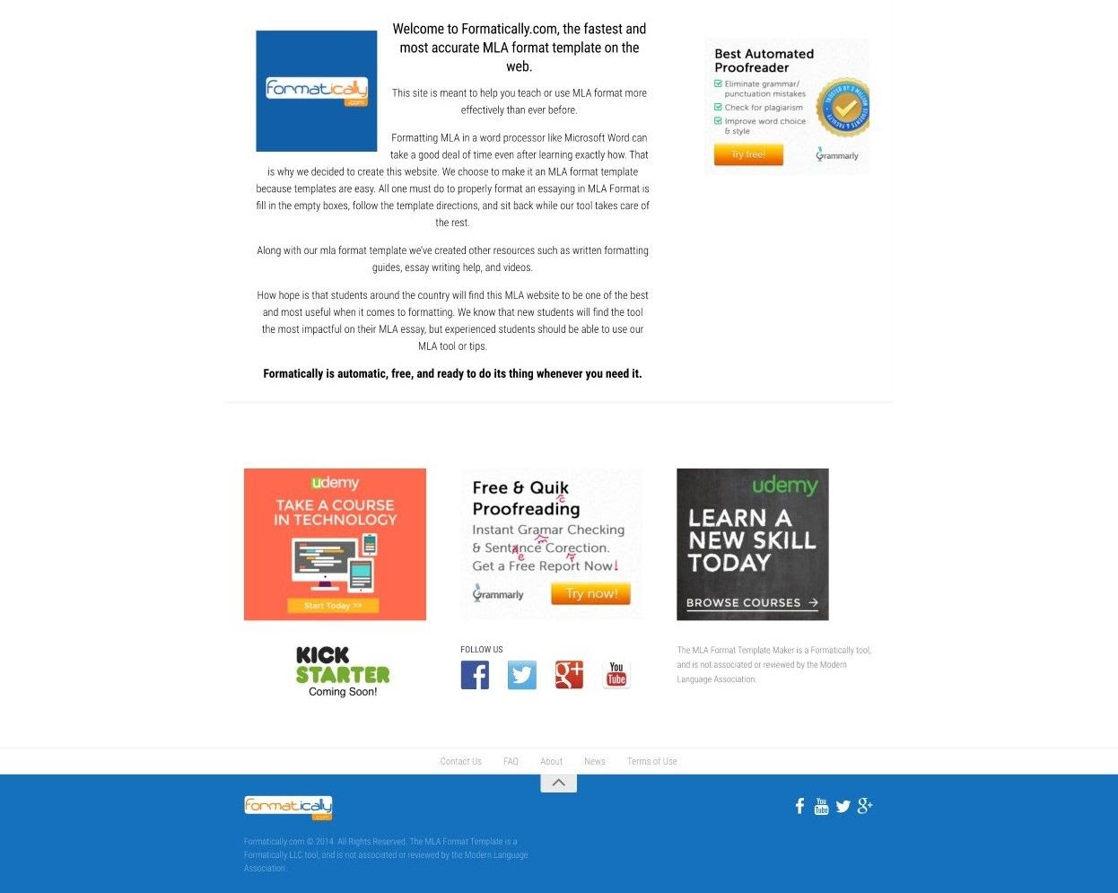 Formatically landing page