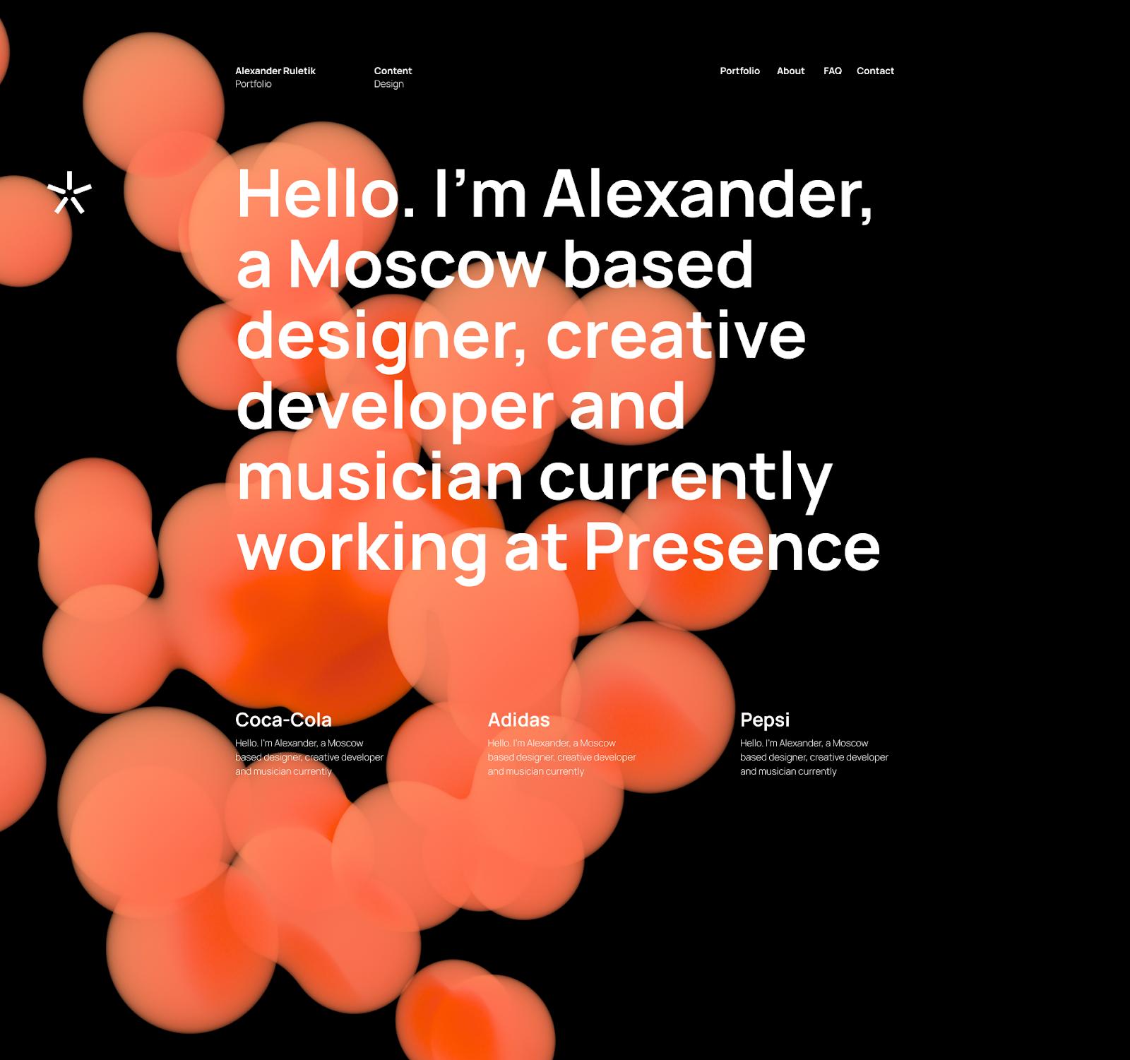 Alexander's website
