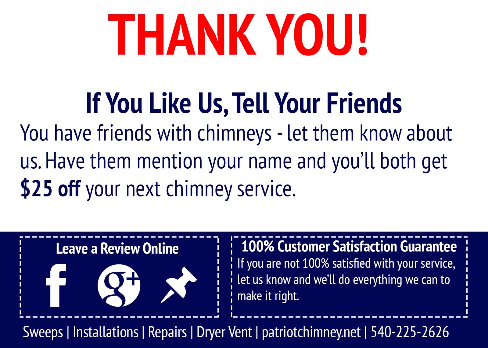 Patriot Chimney's postcard
