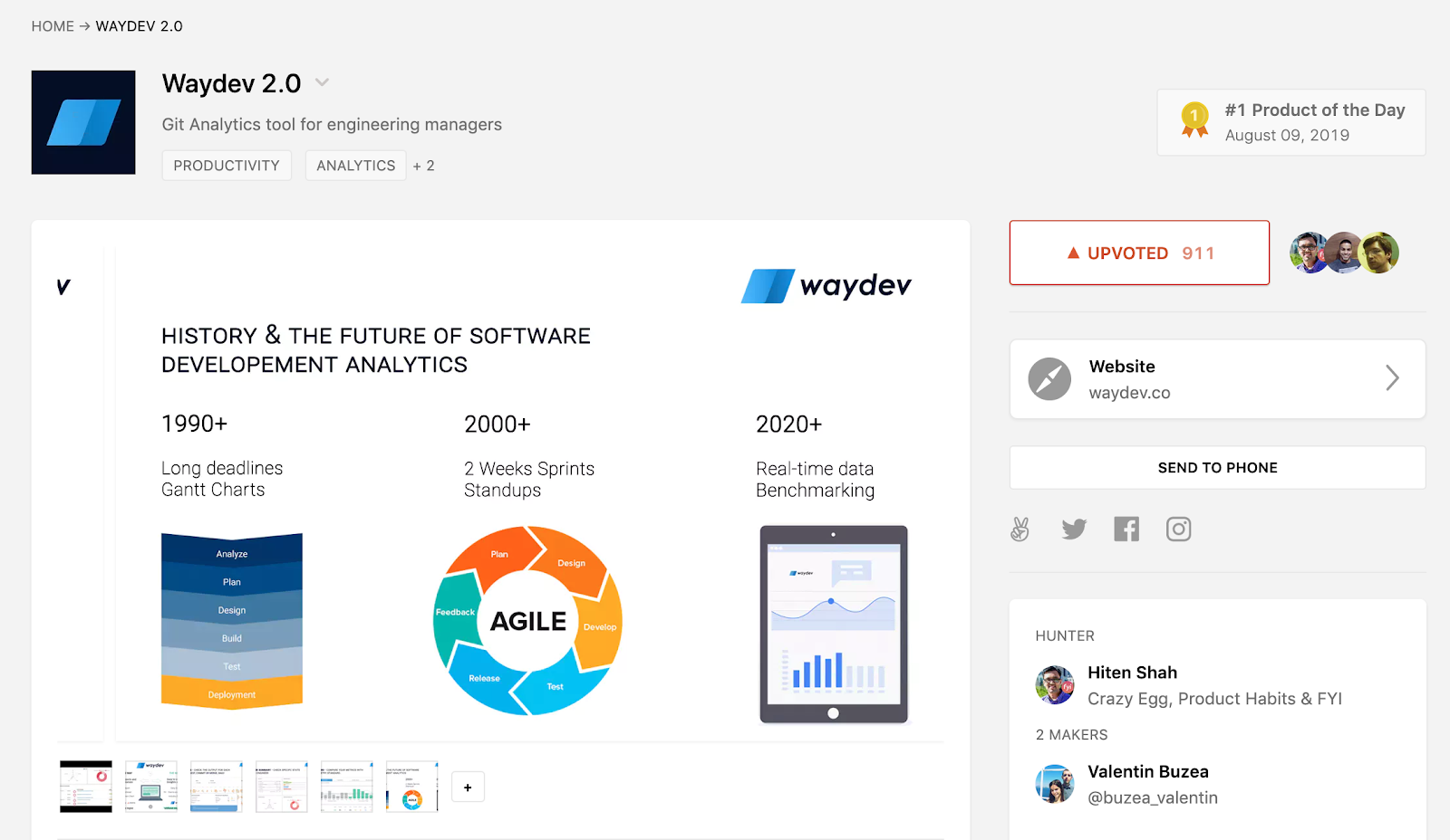ProductHunt's launched