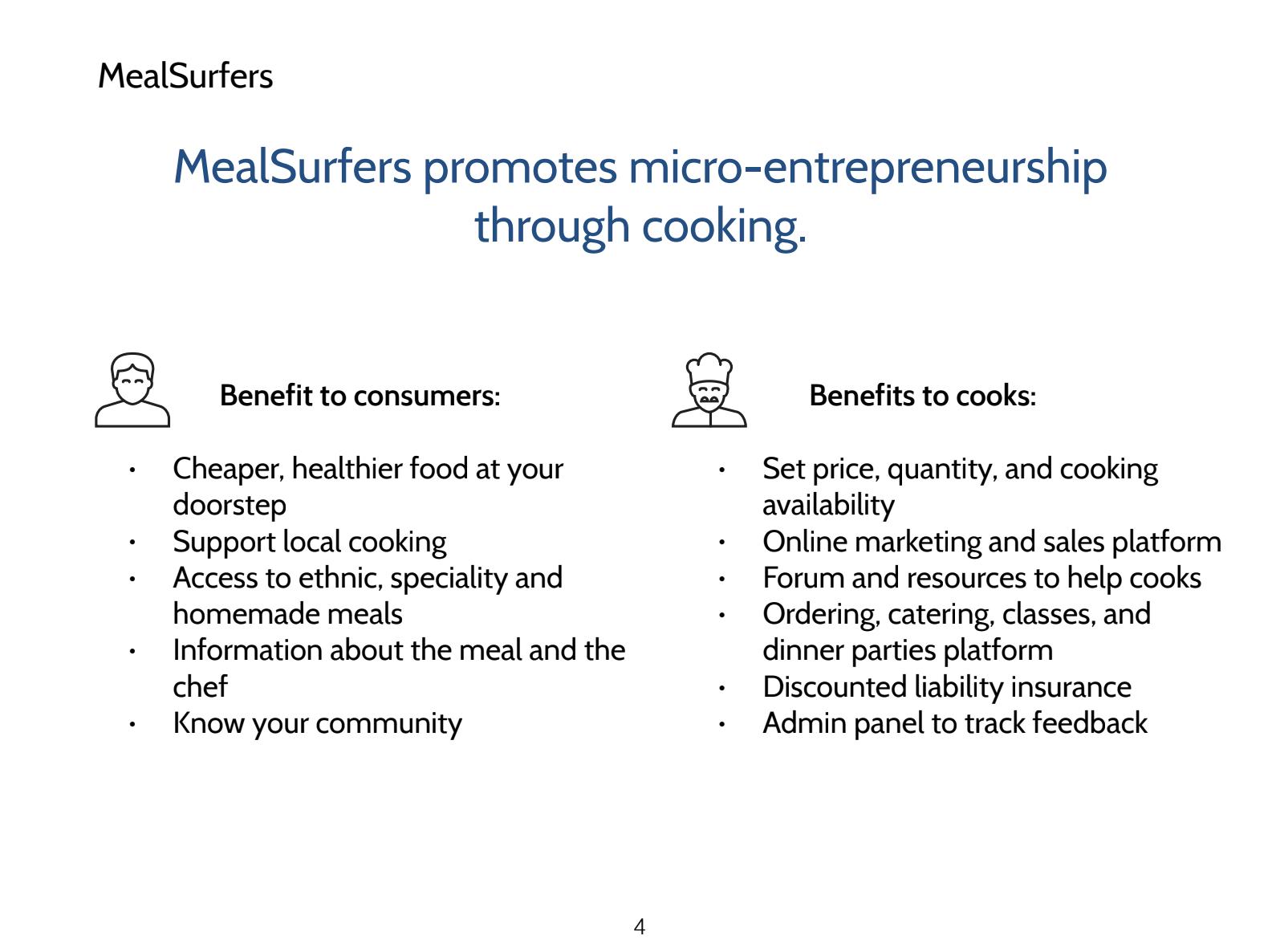 MealSurfer's Benefits
