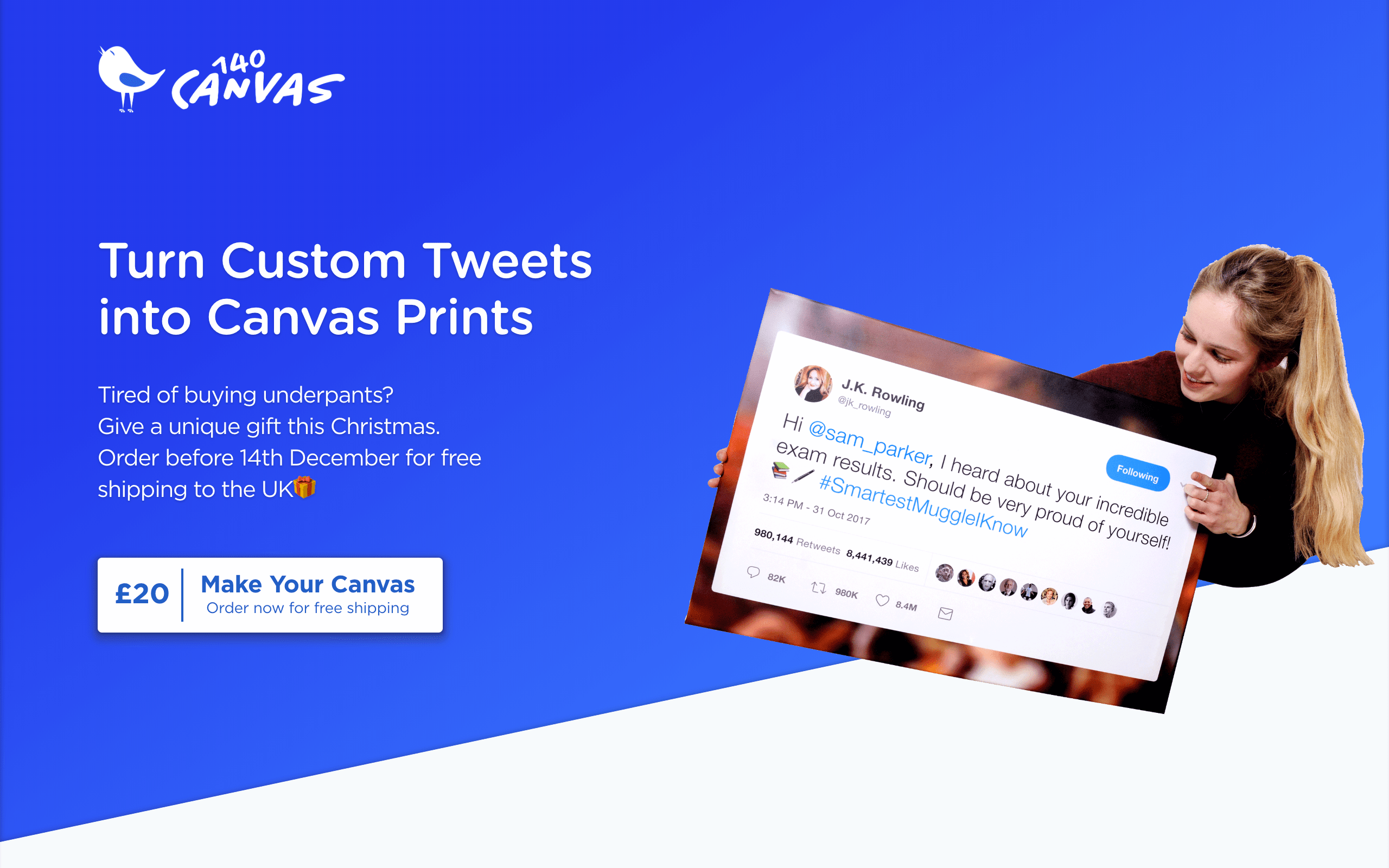 140 Canvas Landing Page