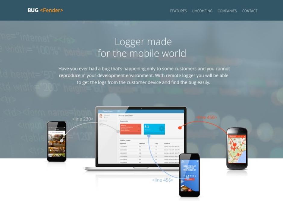 Bugfender Landing Page