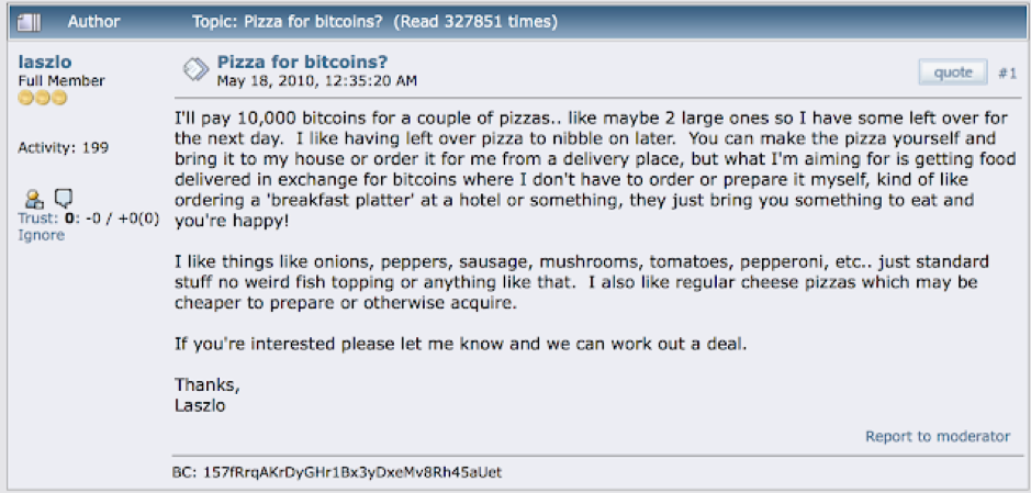 Phez Pizza for Bitcoin