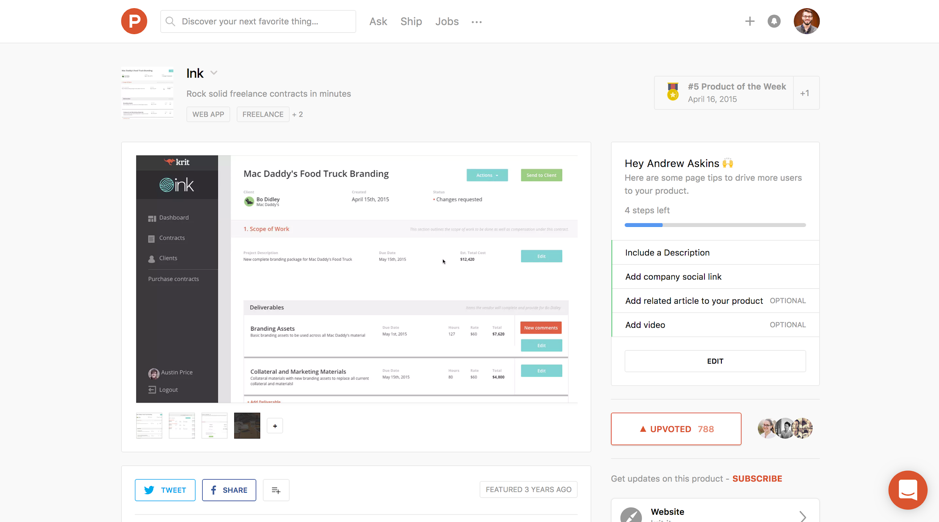 Ink Product Hunt