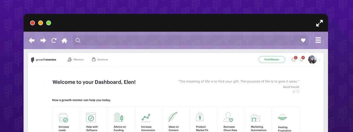 GrowthMentor Dashboard