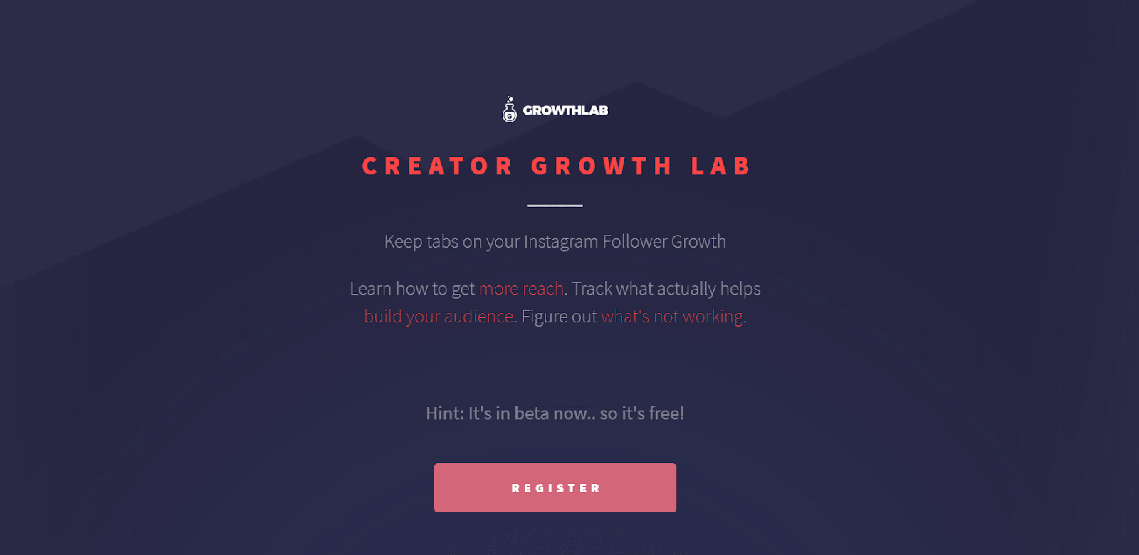 Creator Growth Lab Landing