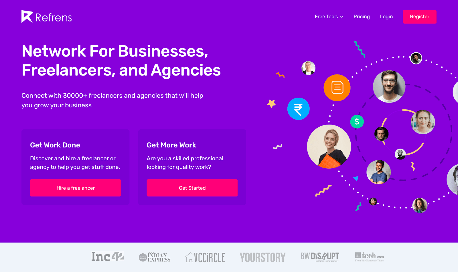 Refrens Landing Page