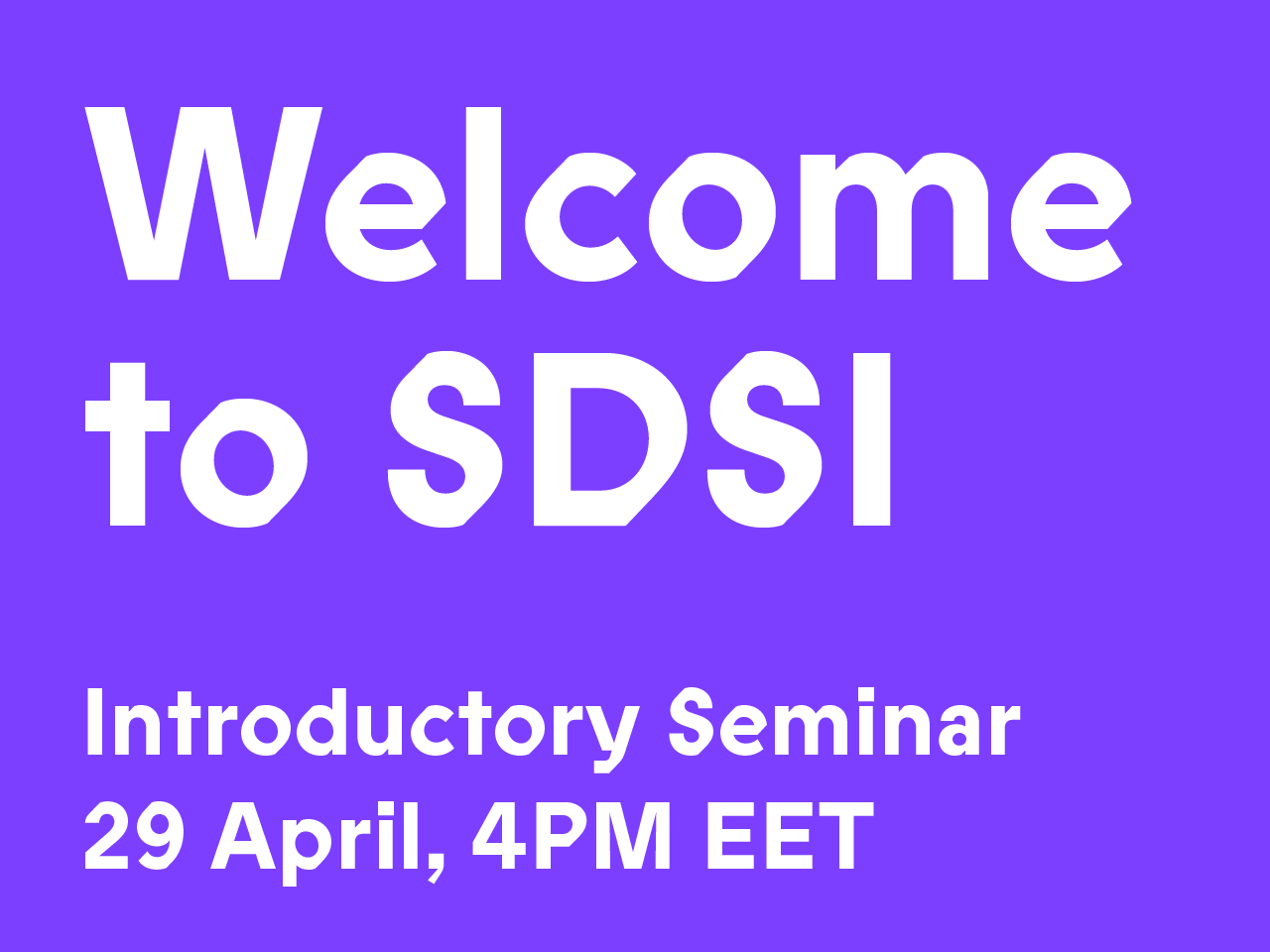 Join our first introductory seminar on April 29 at 4 p.m. EET!