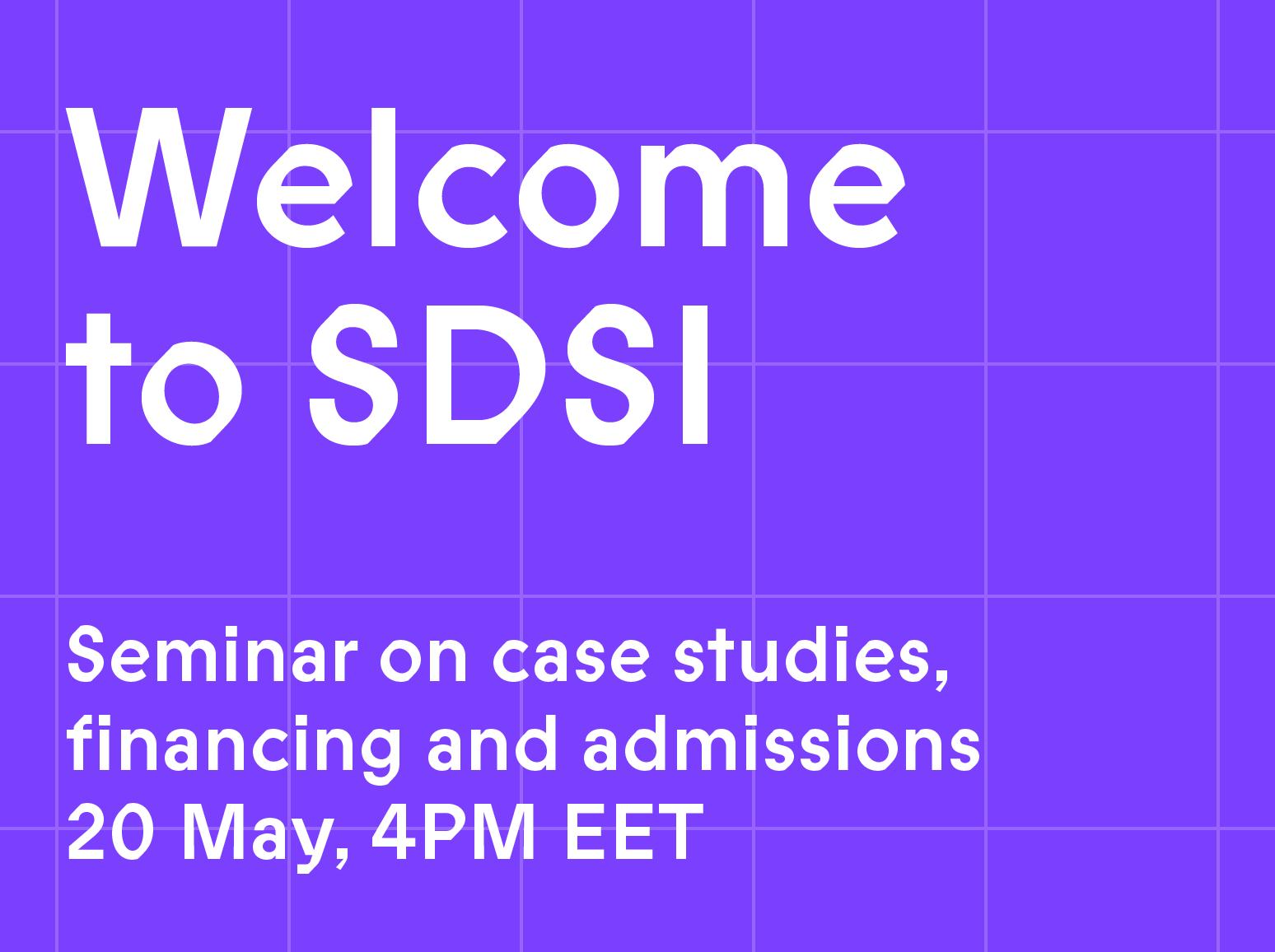 Join the SDSI seminar on May 20 at 4 p.m. EET!