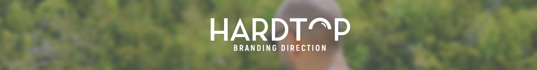 Hardtop branding direction banner.