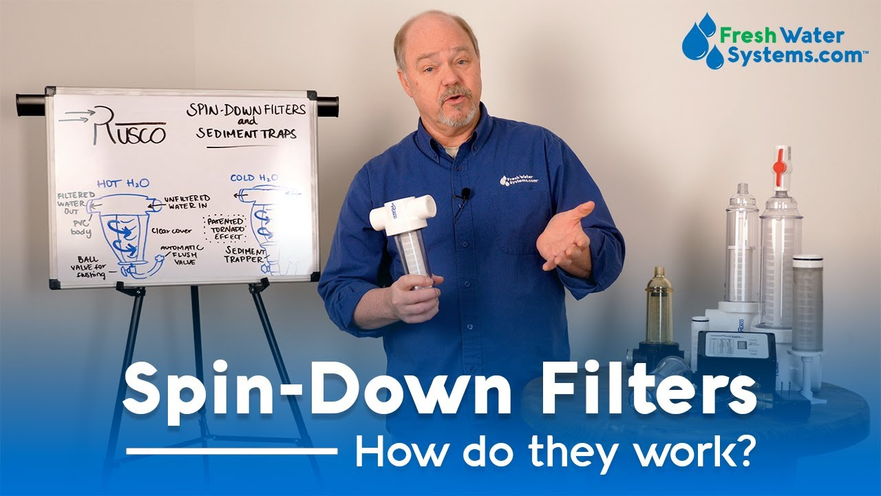 Man talking about spin-down filters