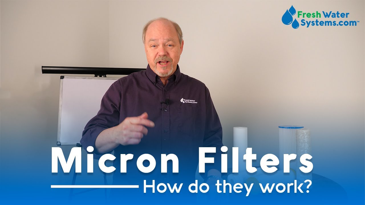 Man talking about how micron filters work