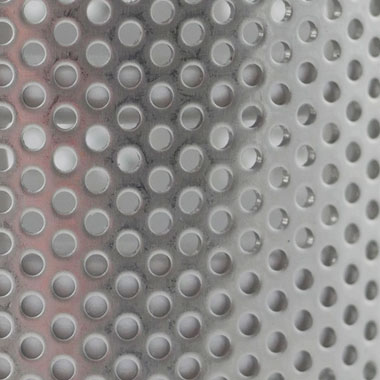 Close-up of stainless steel filter
