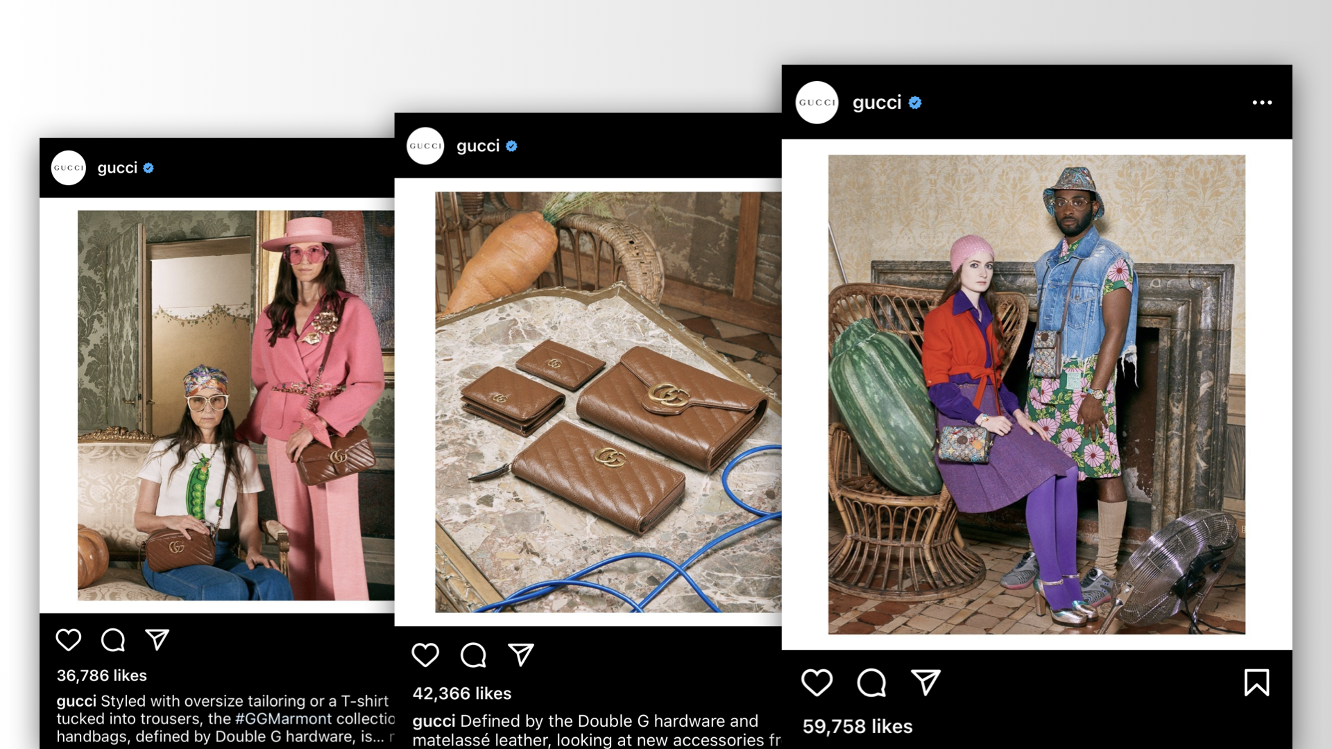 Digital agency on DTC strategy: Gucci retains a strong control of its image, curating pieces of content that embody what it wants consumers to associate with its brand.