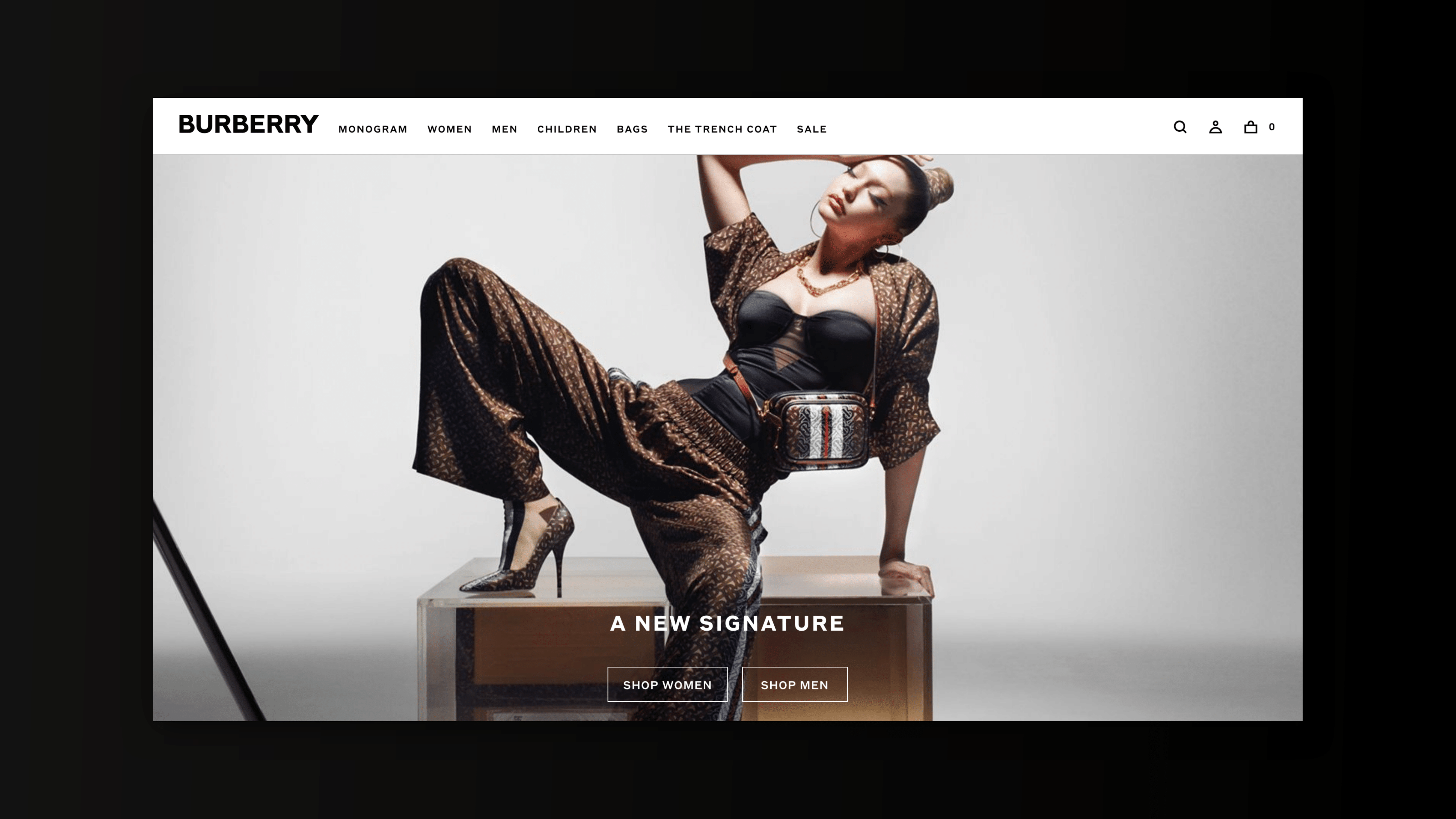Digital agency on Gucci: Burberry's eCommerce Site: Showcasing an elegant and minimal approach