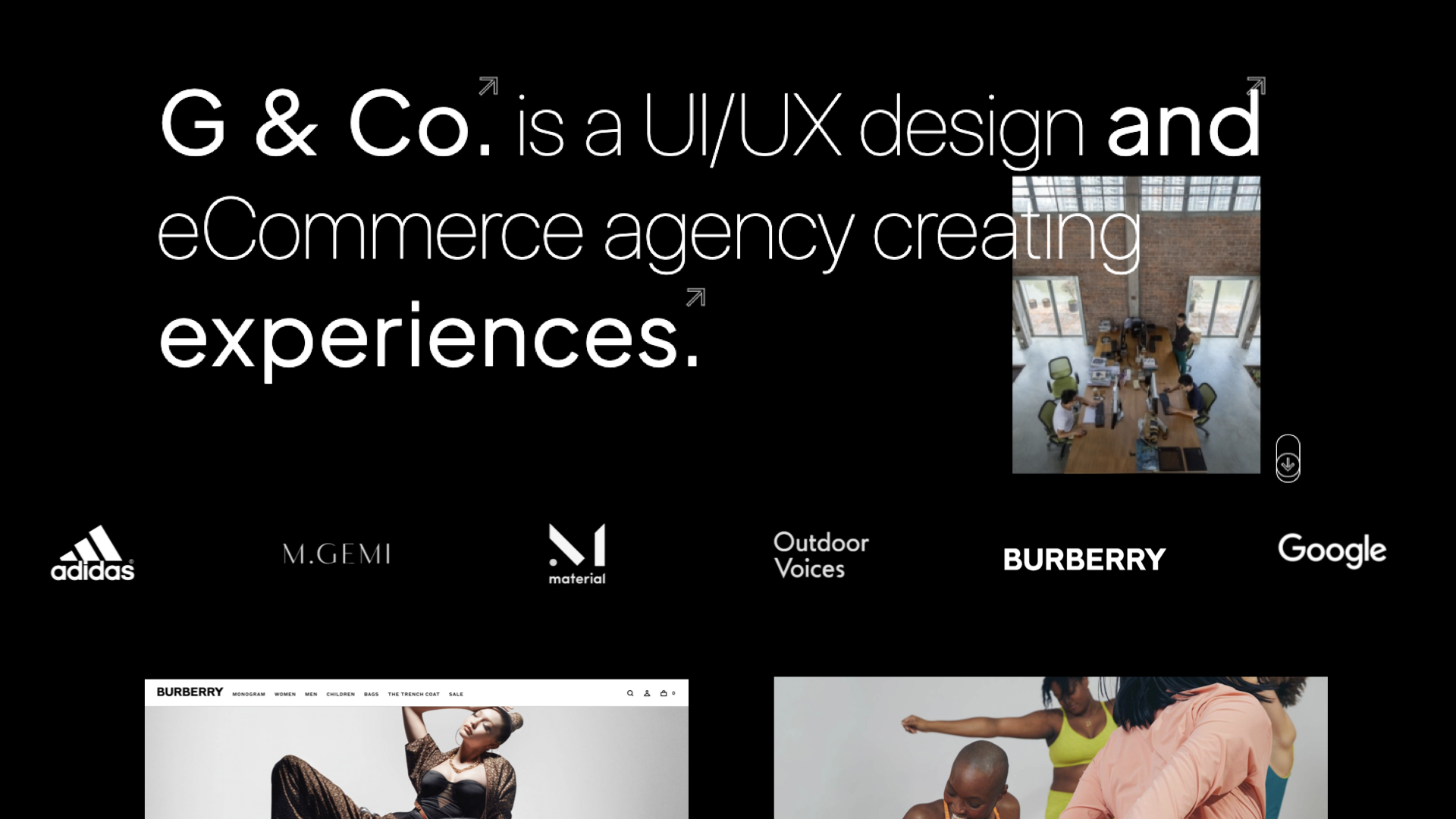 G & Co. is a DTC marketing agency and DTC eCommerce agency: G & Co. UI/UX design and eCommerce agency: Specializing in DTC & luxury brands