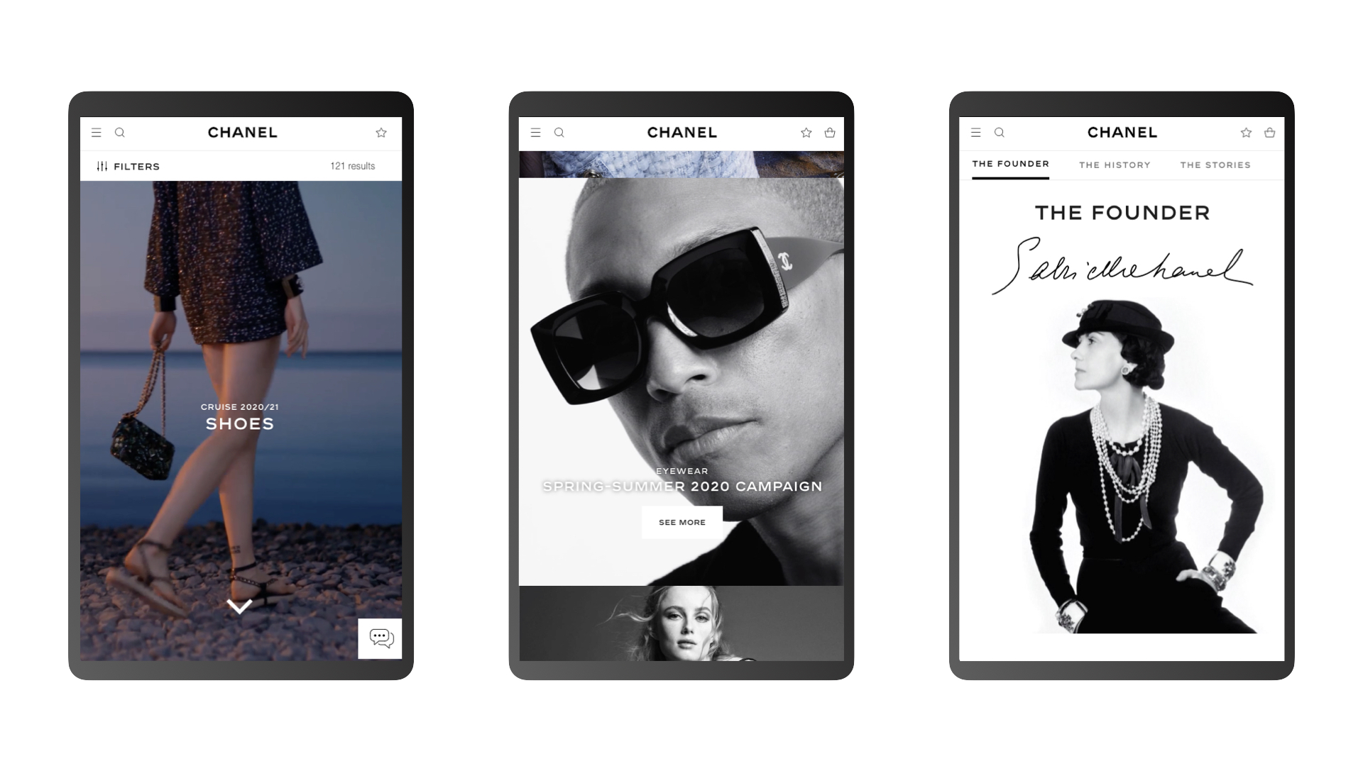 G & Co. is a luxury digital agency: Chanel's eCommerce site, for mobile