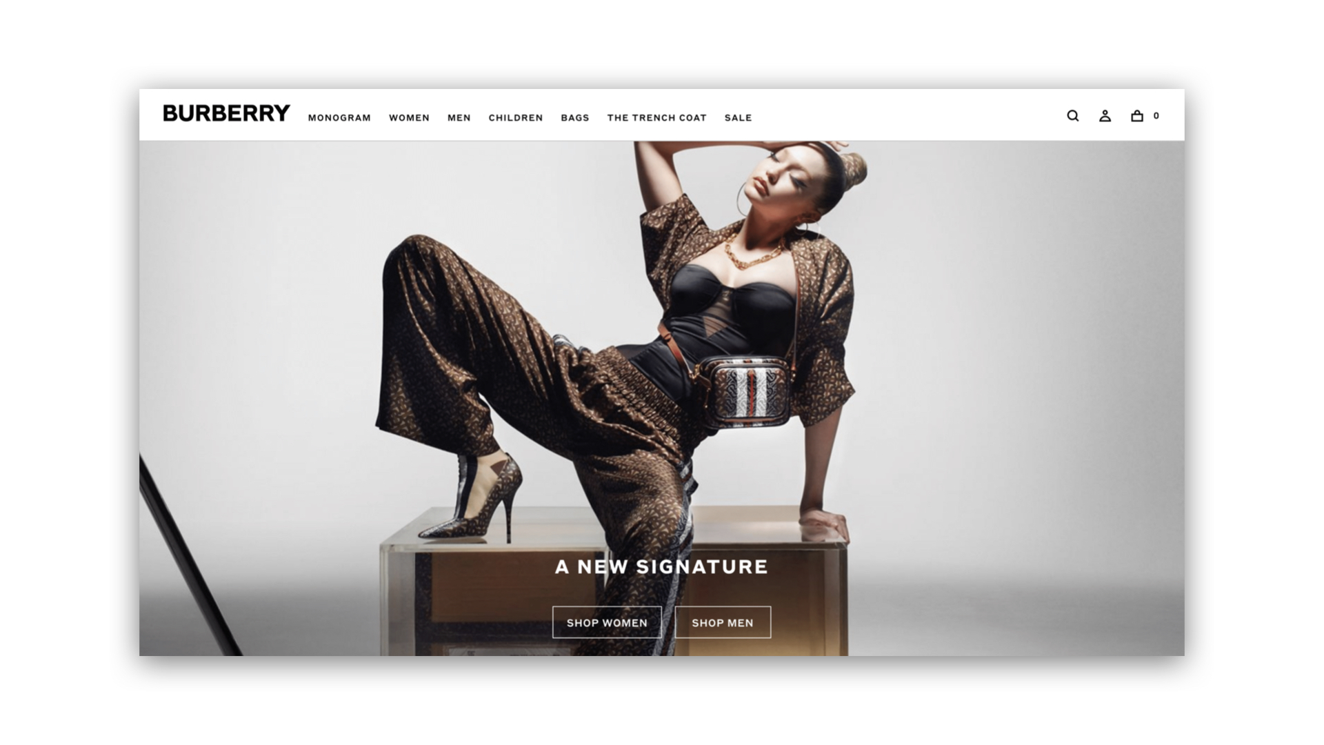 G & Co. is a luxury marketing agency and luxury digital agency: Burberry's eCommerce site homepage