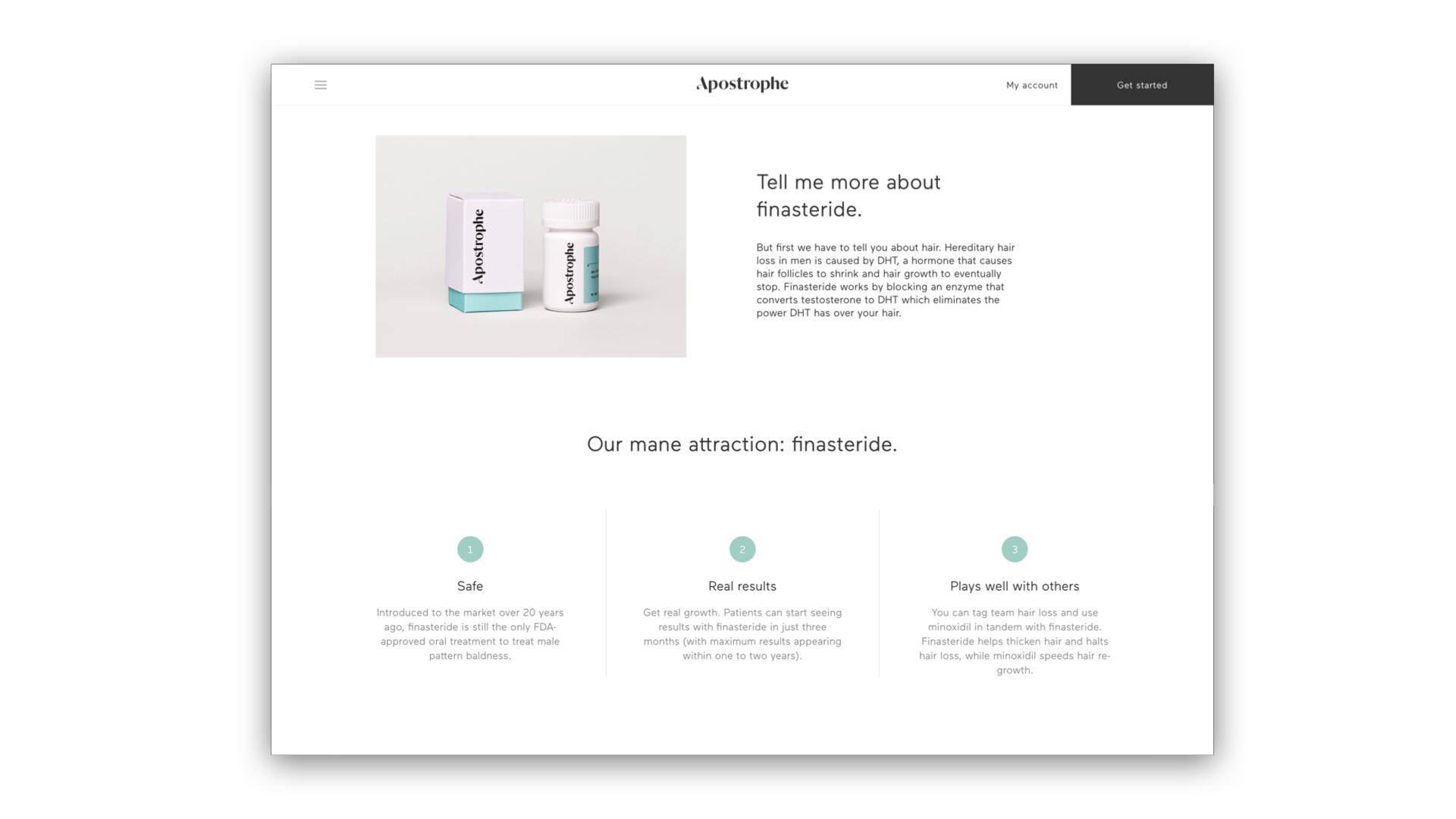 G & Co. is a DTC marketing agency and DTC eCommerce agency: Apostrophe has an excellent website experience to ensure users get the skin treatment they need with ease