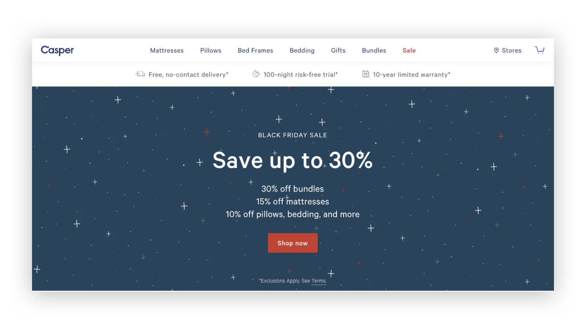 G & Co. is a DTC marketing agency and DTC eCommerce agency: Casper's desktop homepage