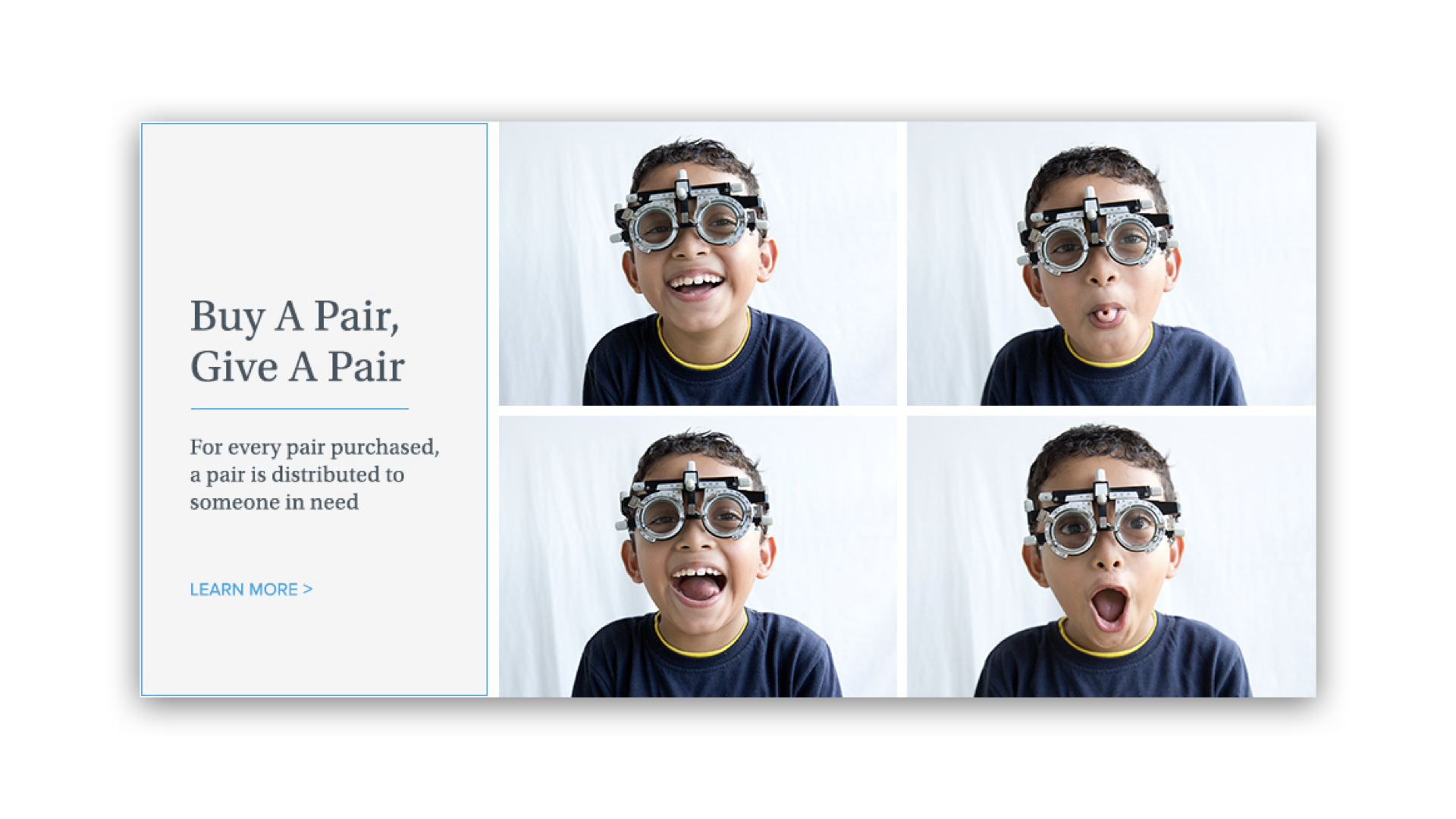 G & Co. is a DTC marketing agency: Warby Parker's Buy A Pair, Give A Pair program donates a pair of glasses to someone in need for every pair bought