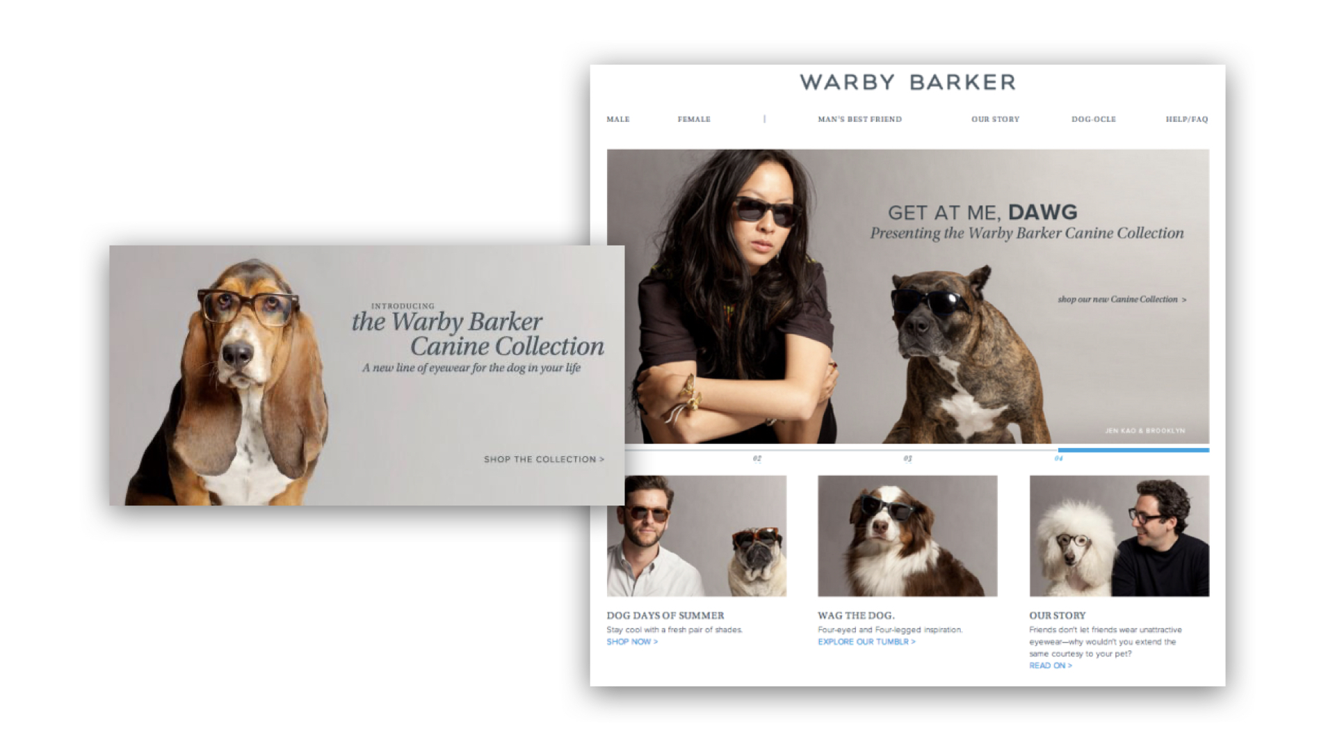 Warby Parker launched a spin-off joke site in Warby Barker for April Fool's