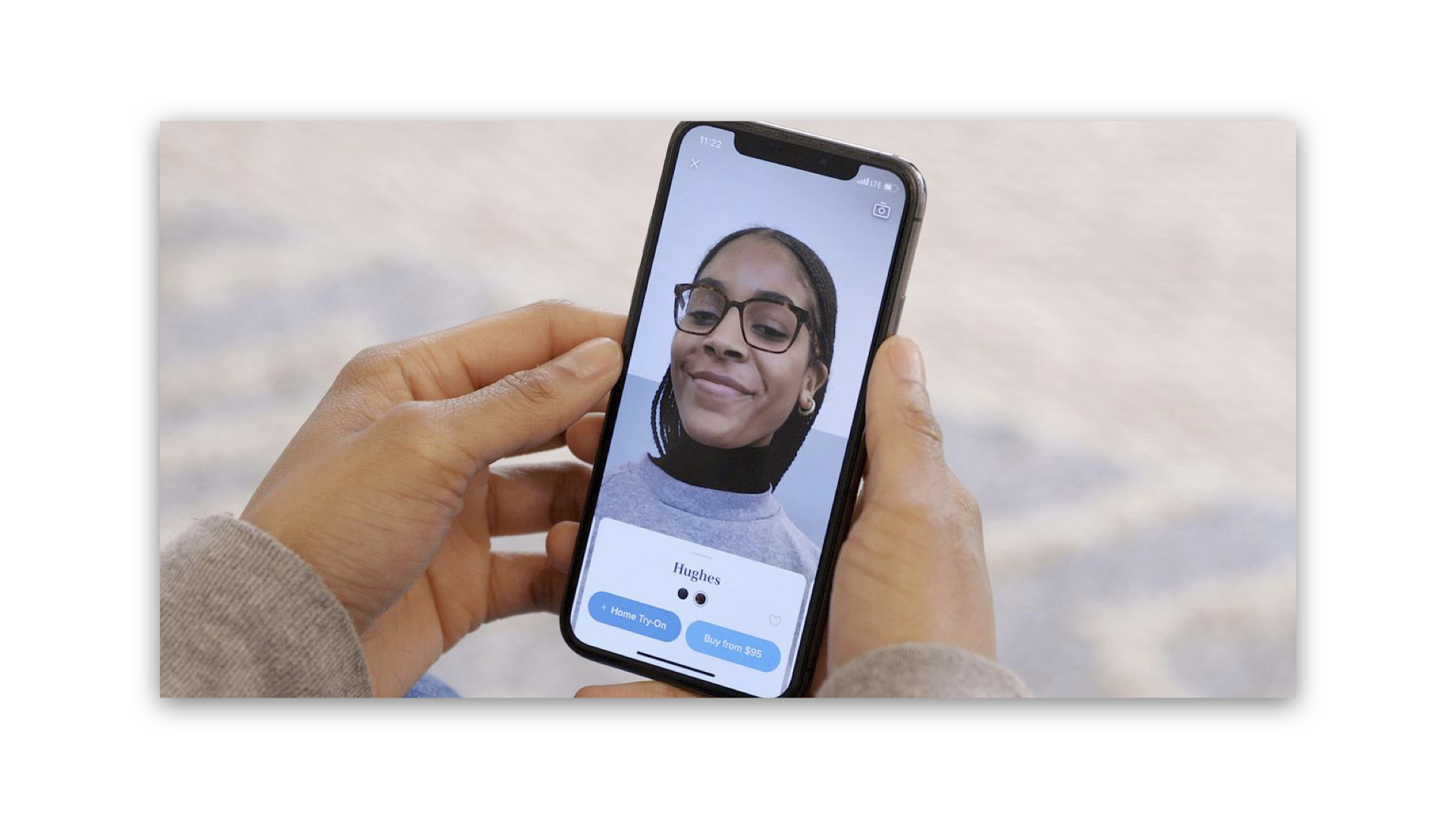 Warby Parker's apps allow users to virtually try on a pair of glasses and renew a prescription