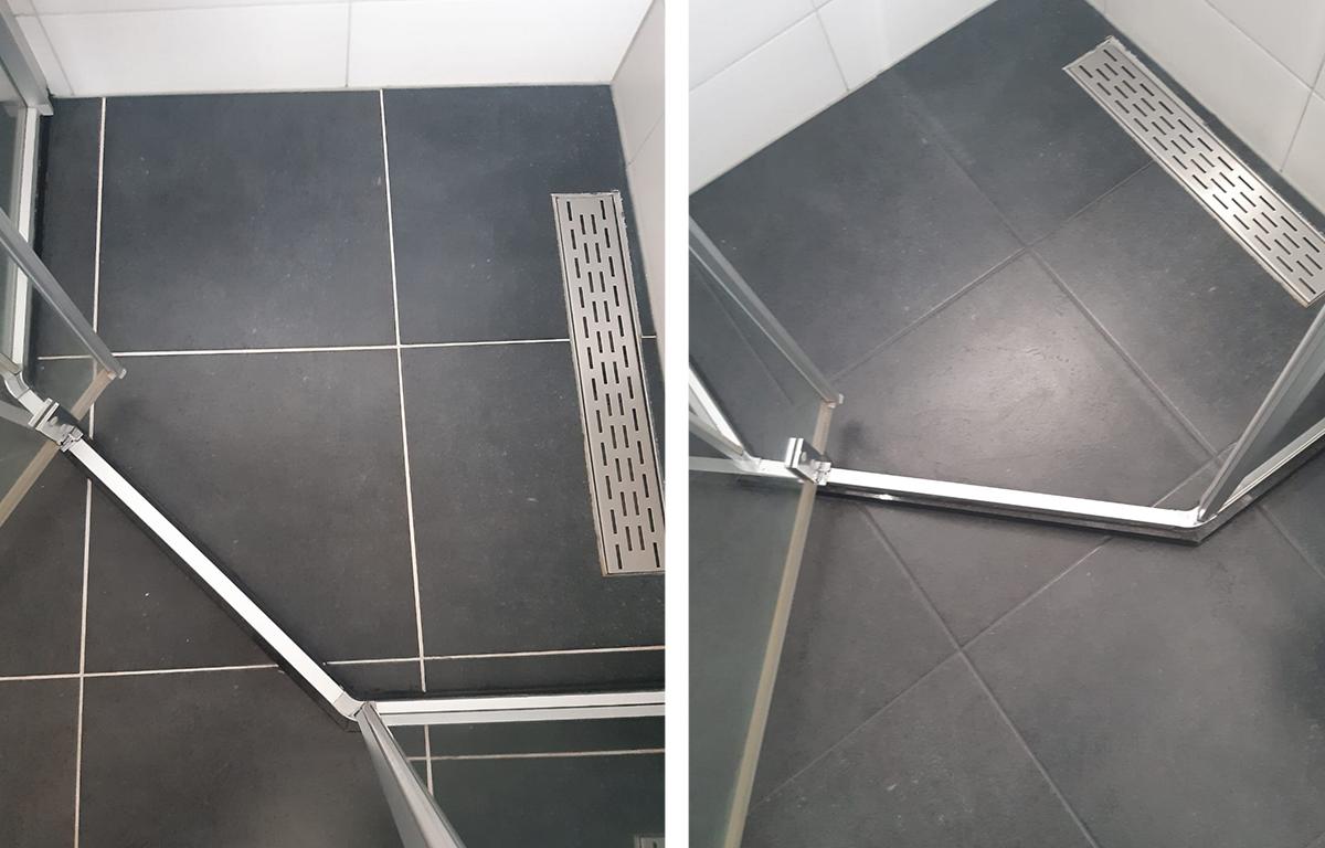 Badkamer met donkere vloer 2