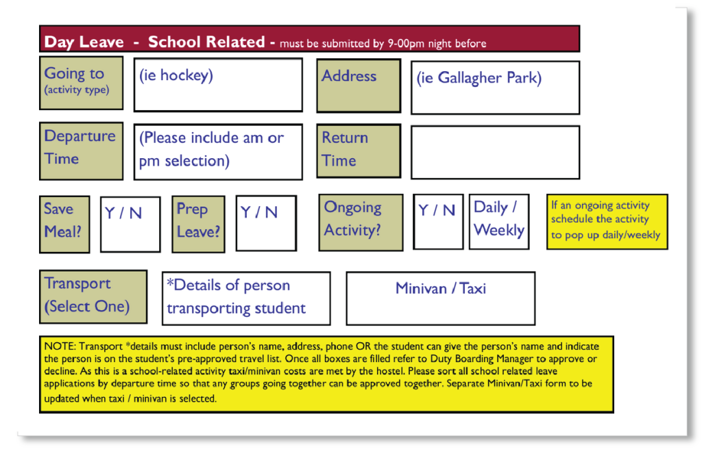 boarding school director concept