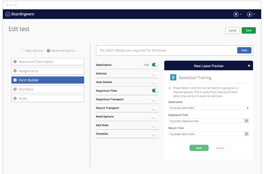 form-builder - leave management system