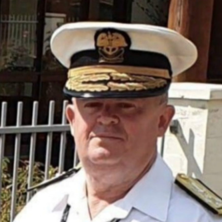 Image of Admiral Peter Cowell of IntSAR