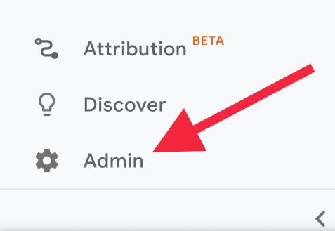 Admin Button in GA4 | AZ Creates