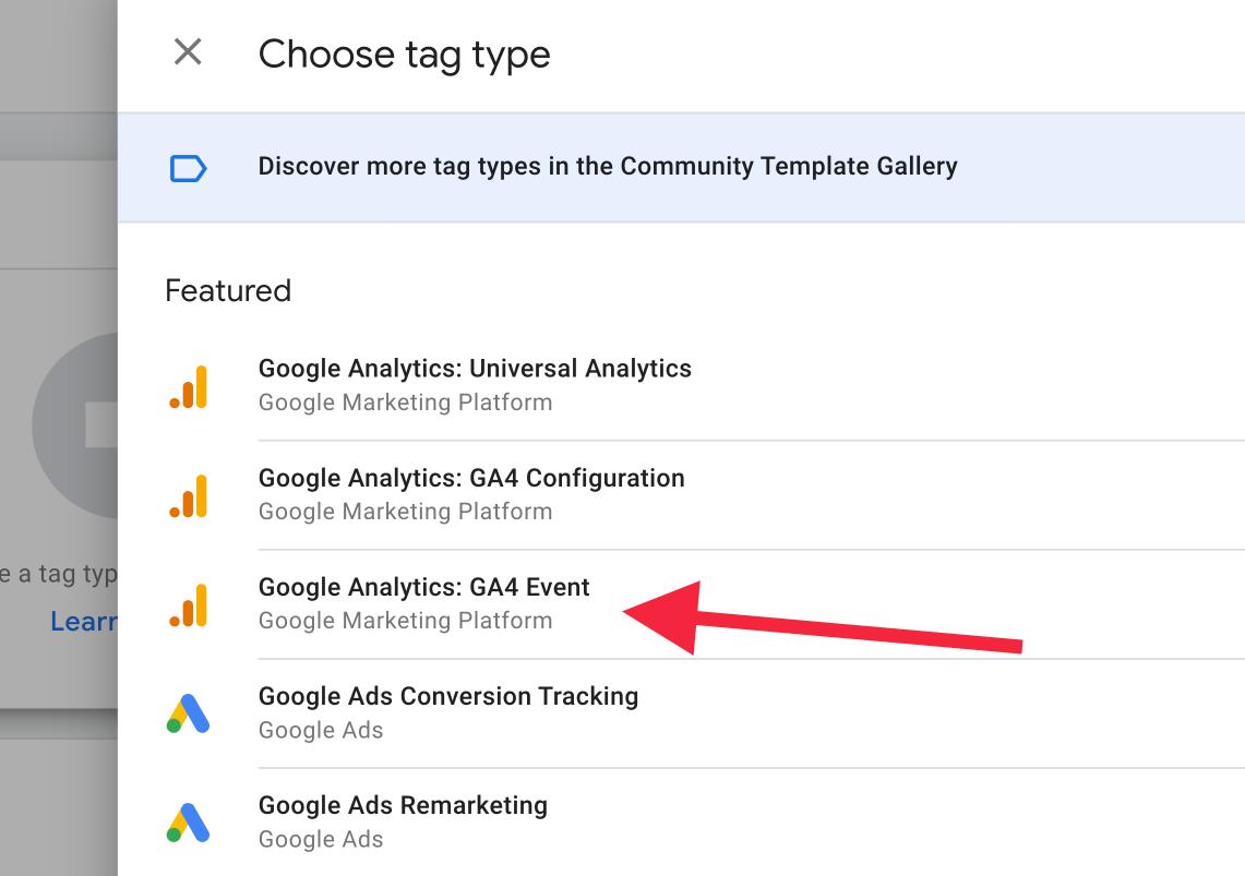 Google Analytics: GA4 Event Tag Type in GTM | AZ Creates