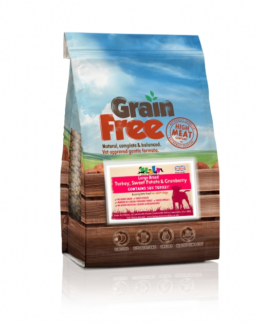 Grain Free Large Breed Turkey, Sweet Potato & Cranberry 12kg