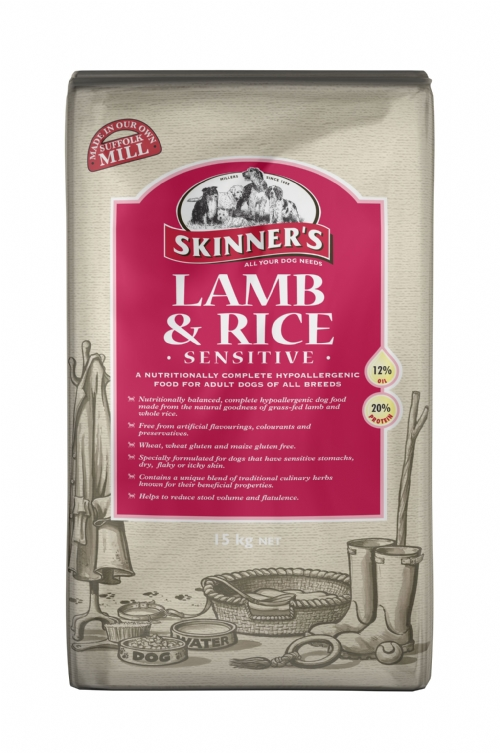 Skinners Lamb & Rice Sensitive 15kg