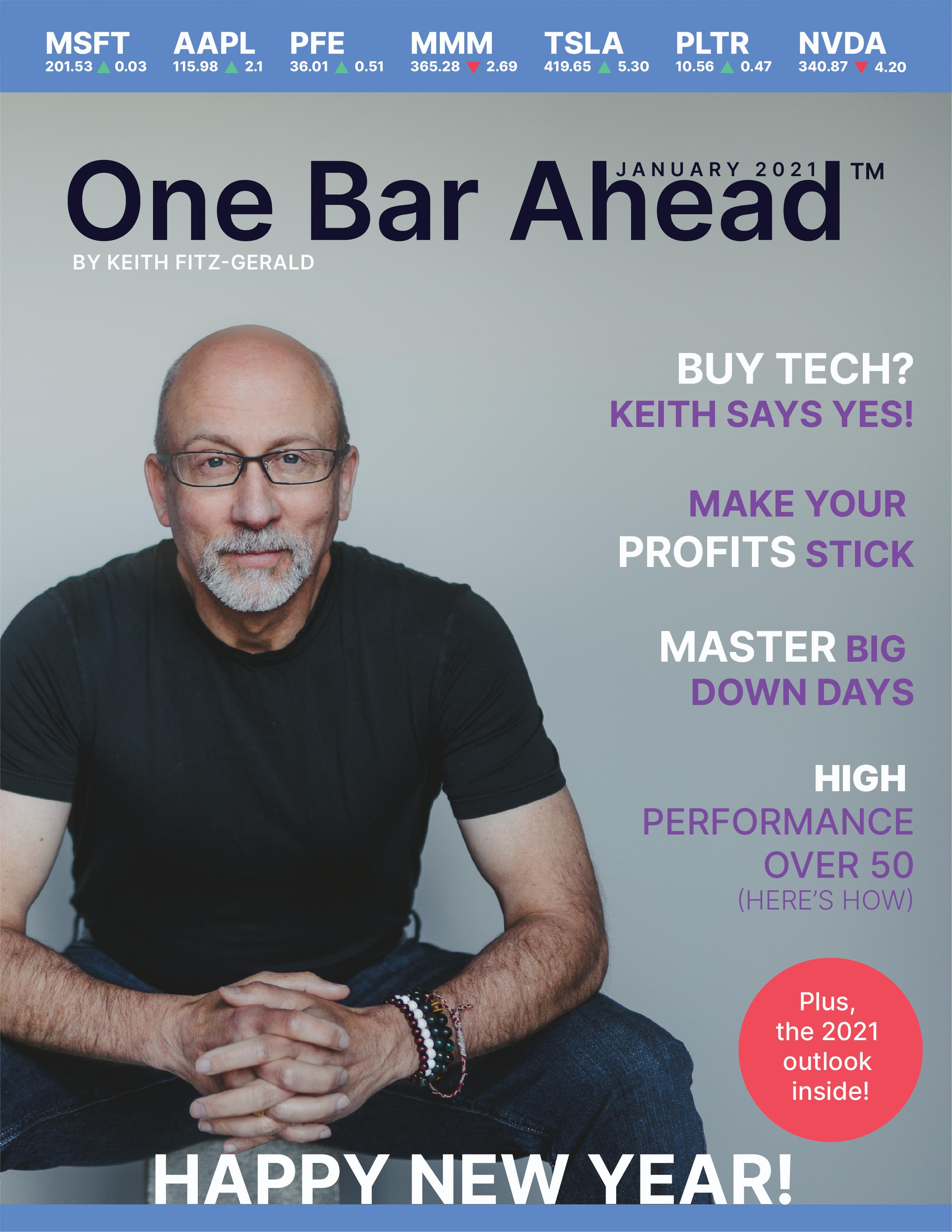 The One Bar Ahead Digital Magazine January Cover
