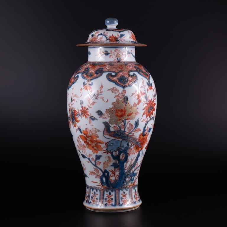 A Tall Early 18th Century Chinese Imari Baluster vase, circa 1730