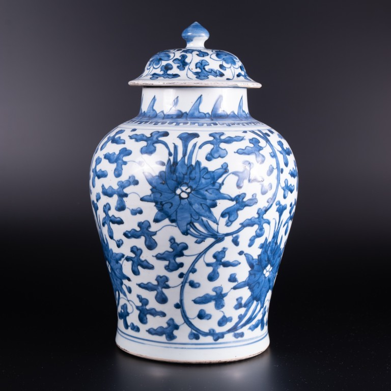 A mid 17th Century Chinese blue and white Vase