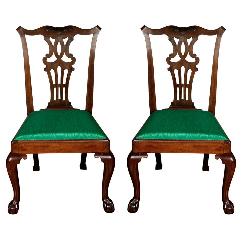 A Good Pair of Chippendale Period Chairs c. 1760