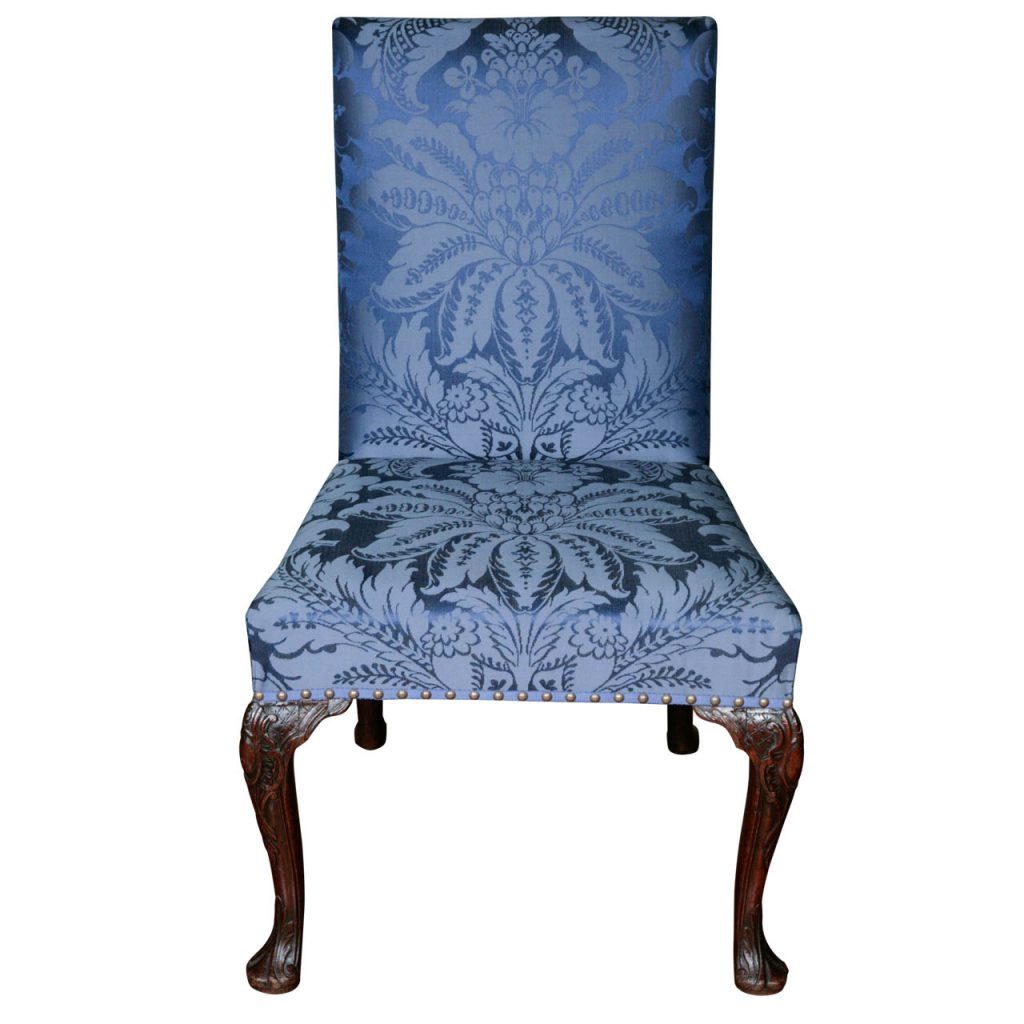 George II Upholstered & Carved Side Chair