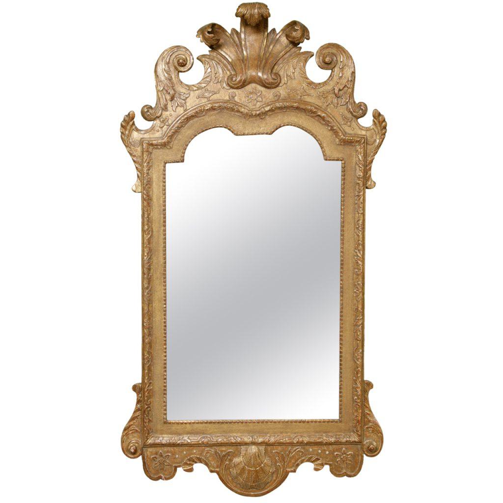 A George I Gilt Wood Mirror
