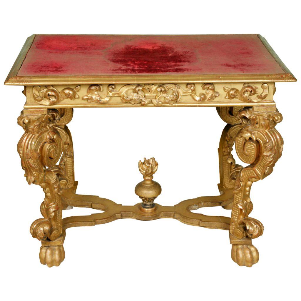 Impressive Continental 17th Century Gilt wood Console Table