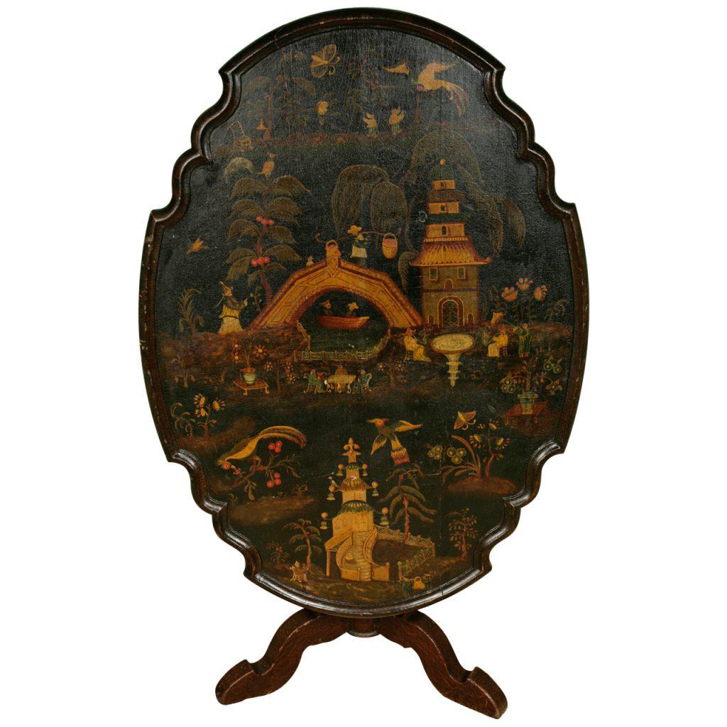 A 'Dutch' 18th Century Chinoiserie Tilt-Top Table