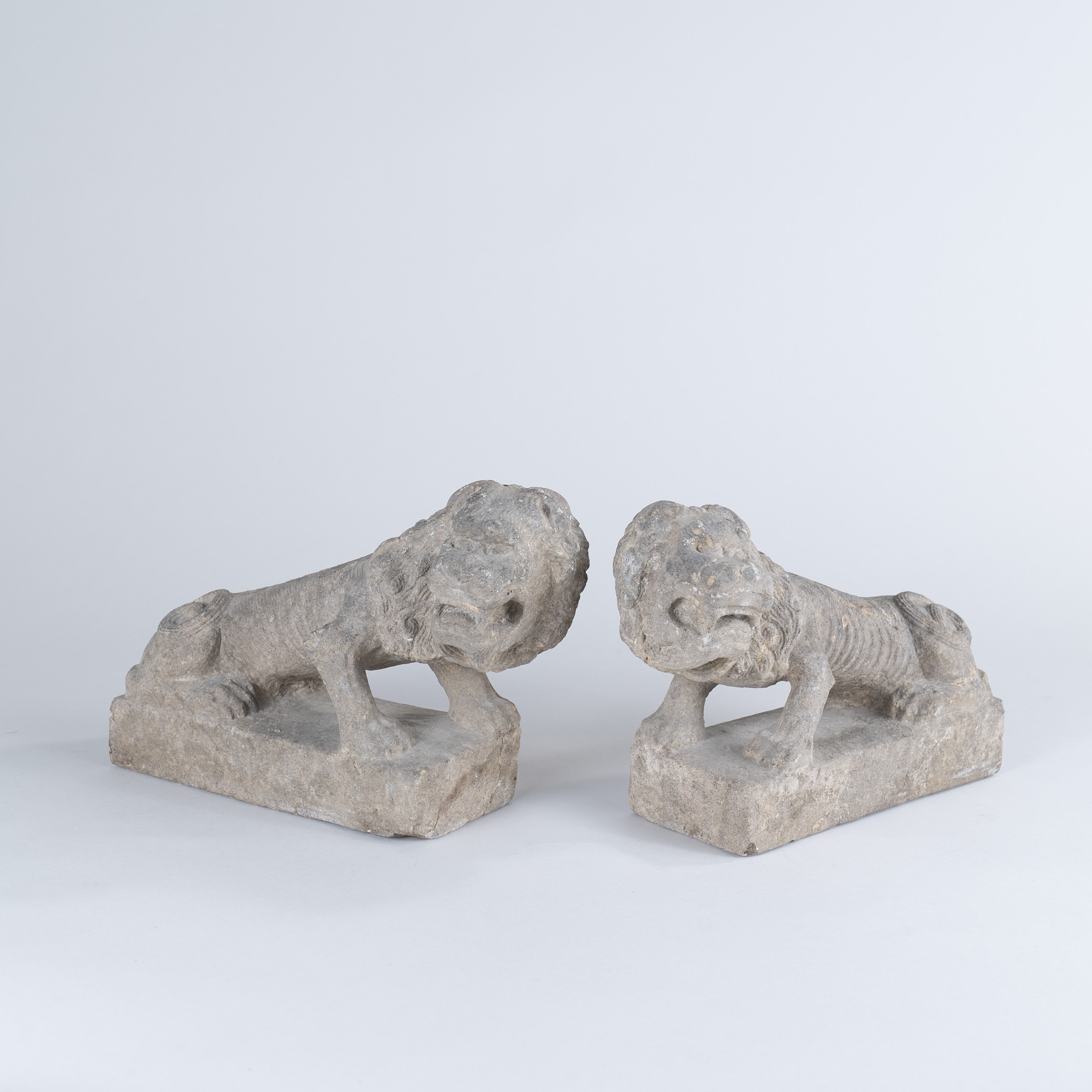 Pair of Chinese Tang Dynasty Stone lions