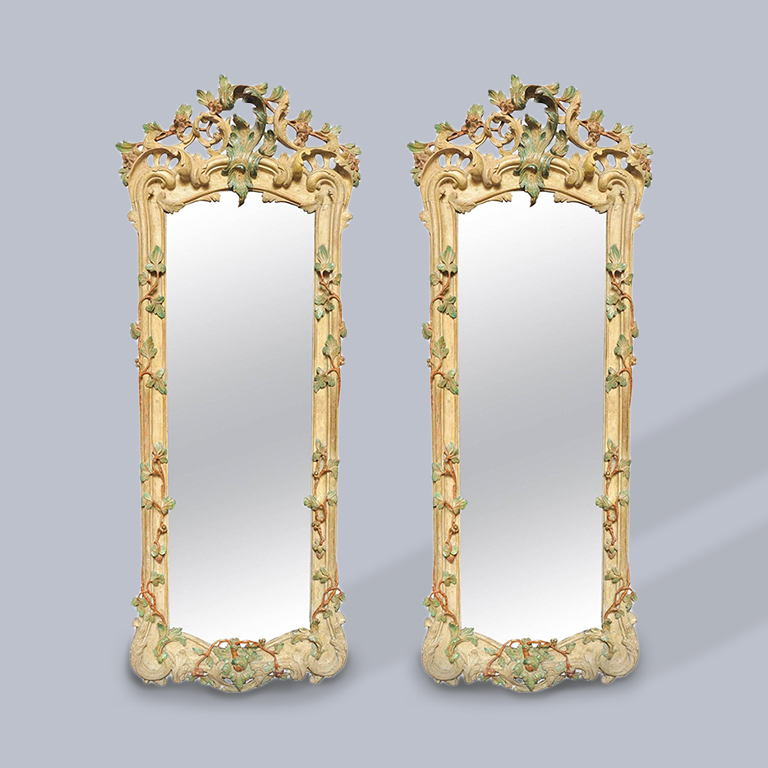 18th Century Pair of North Italian Rococo Mirrors or  'Girandoles,' circa 1740
